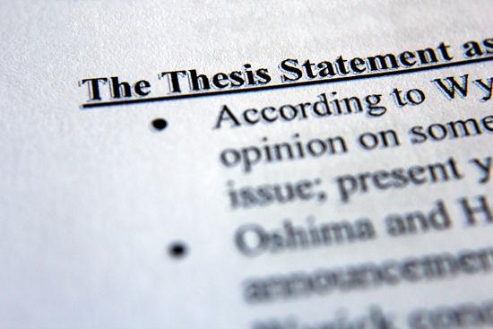Define thesis question